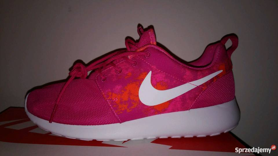 sports shoes 172e0 18a1e Nike Rosherun różowe Łódź