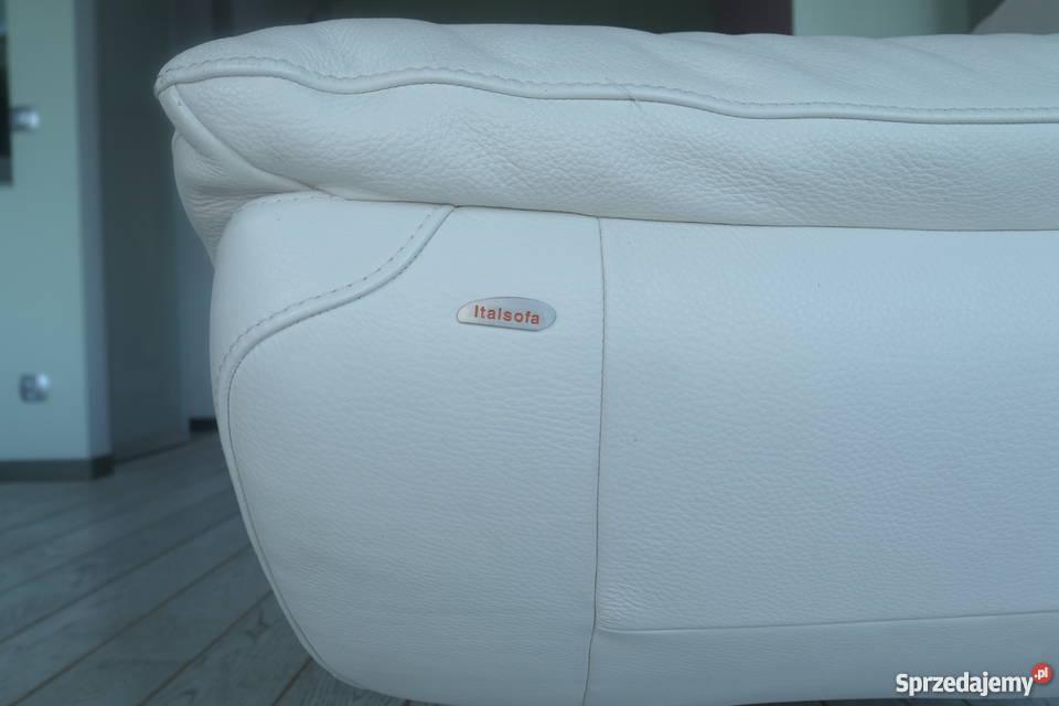 Skórzane sofy markowej włoskiej firmy Italsofa 186cm zachodniopomorskie Świnoujście