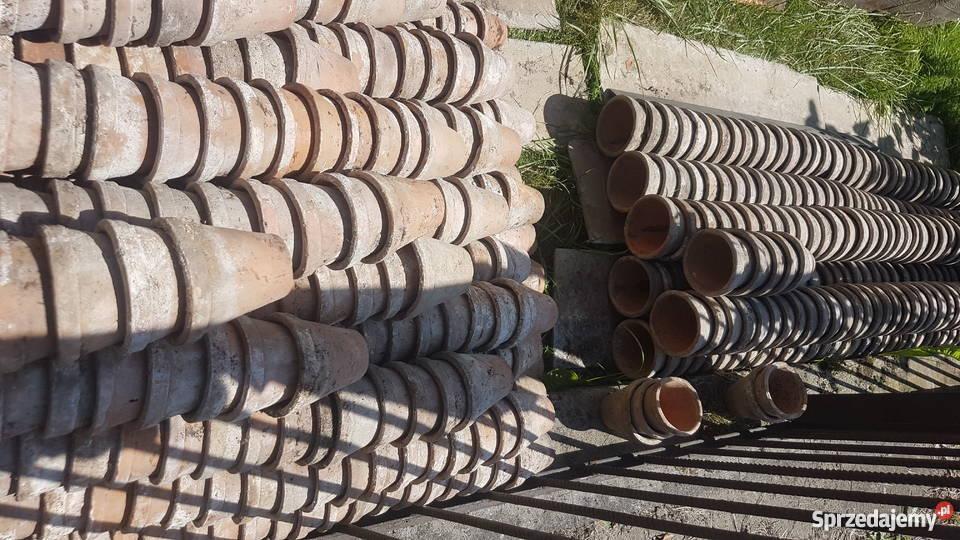 Doniczki Gliniane 8x8 Cm I 105x10 Cm Stare Nieregenerowane