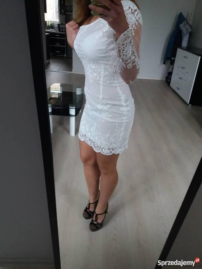 8ee9a4233d Biała sukienka na wesele ślub 36 S koronka Kielce - Sprzedajemy.pl