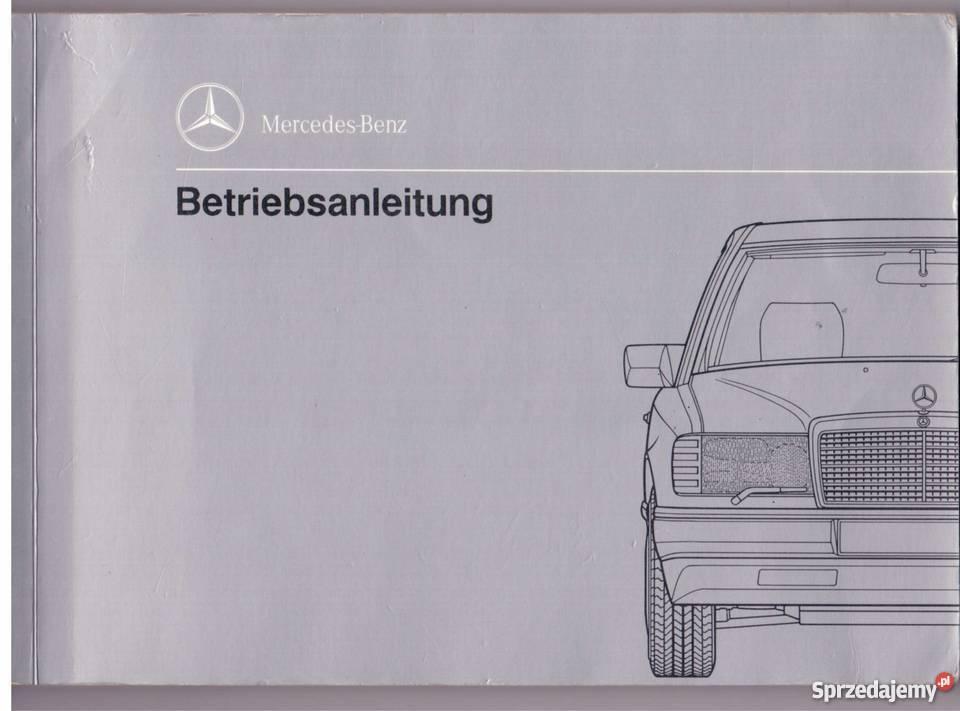 Instrukcja Obsugi Do Mercedesa W124 Klasa E Oryginalna Elblg