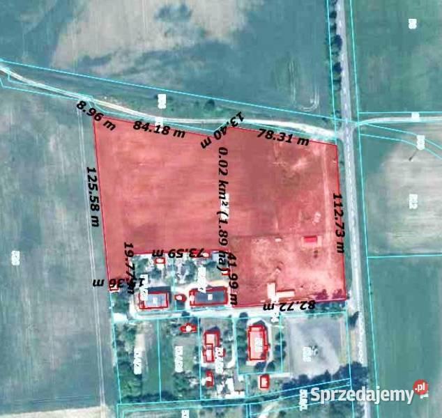 Grunt działka  imwestycyjna Stacja Paliw od 2000m2- 1,88 HA