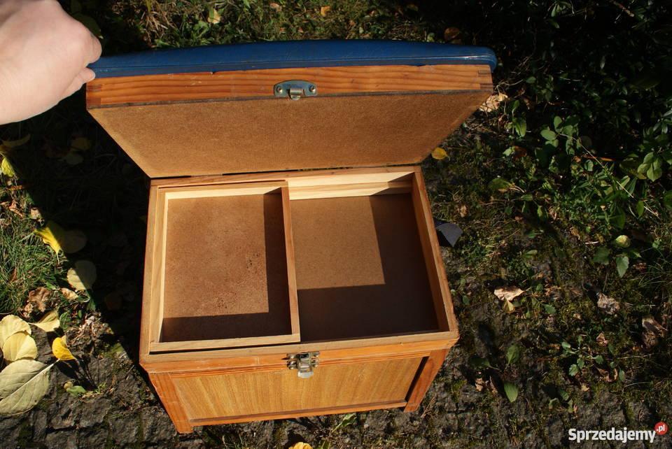 Drewniana szafka szafeczka stołek lata 6070te 24cm Warszawa sprzedam