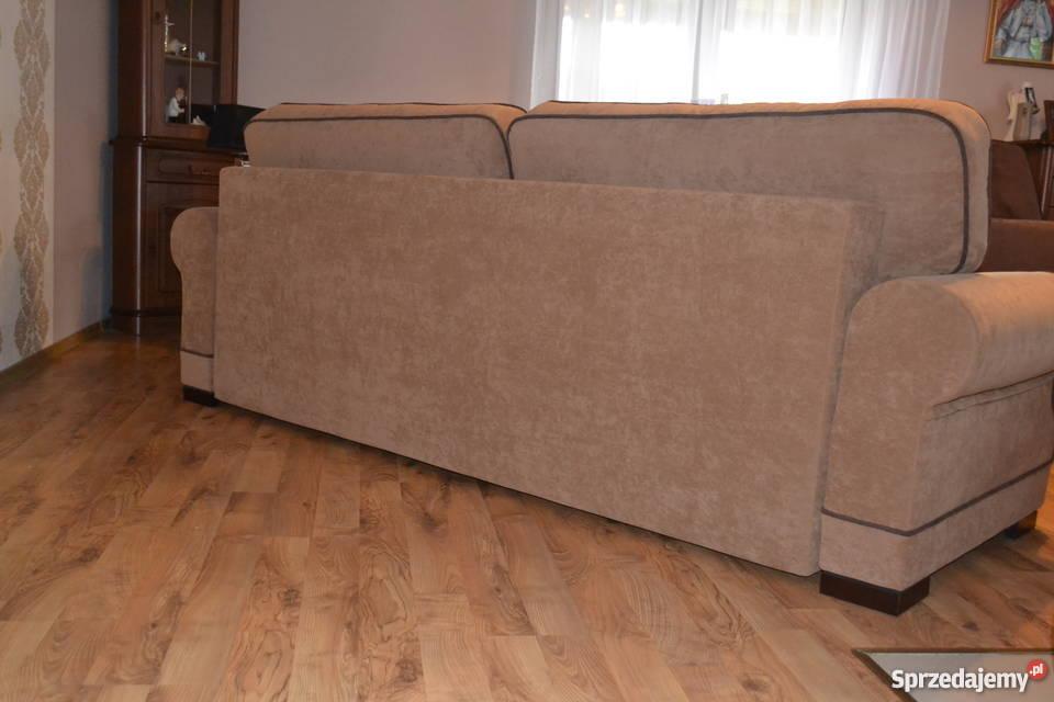 Zestaw wypoczynkowy Kanapa fotel Uszak pufa brązowy/beżowy kujawsko-pomorskie Gniewkowo