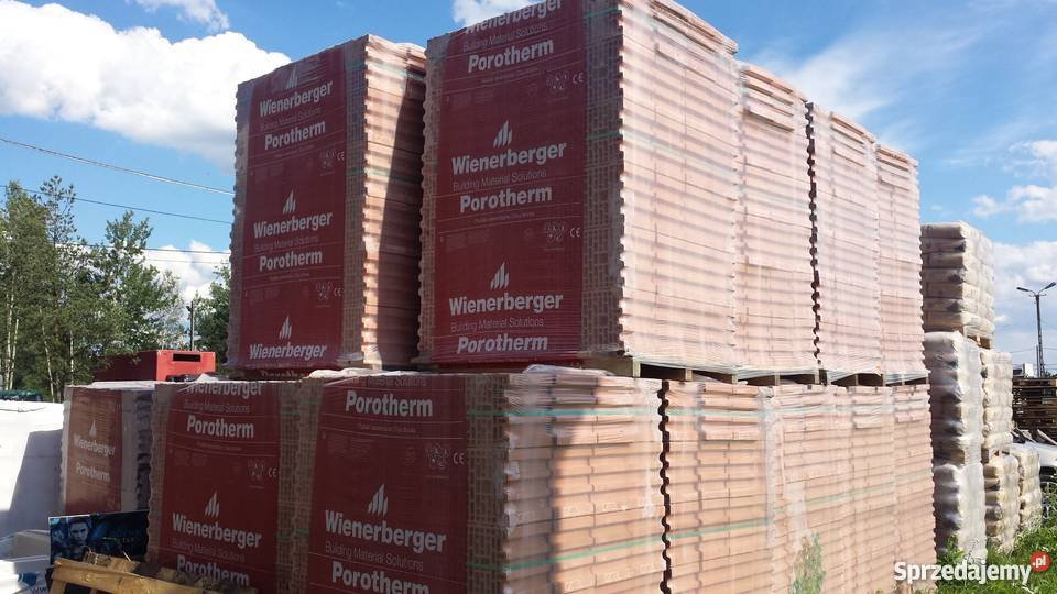 Pustak Porotherm 25 P W E3 Wienerberger 23 Palety Smykow