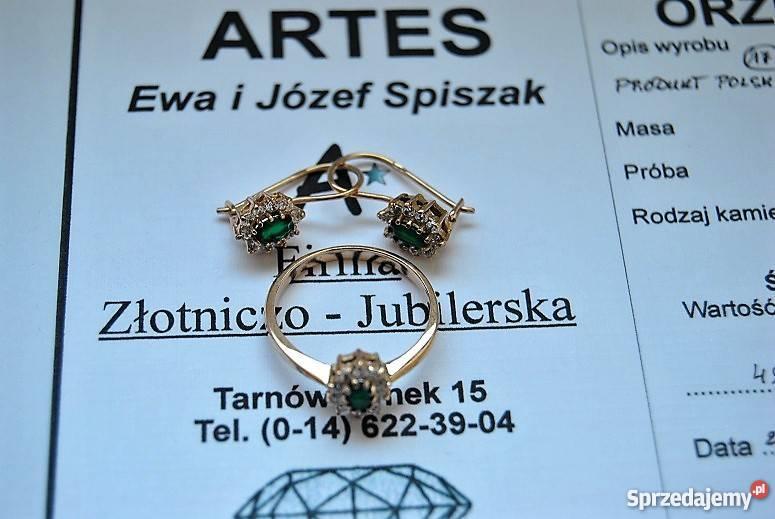 Ogromnie OKAZJA!!! Sprzedam złoty komplet próby 583. Tarnów - Sprzedajemy.pl JN44