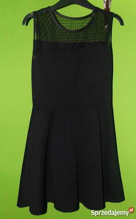 61d4a062c8 Czarna sukienka z siateczką Spódnice i sukienki Mielec