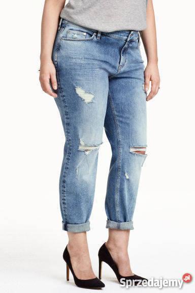 H&m boyfriend jeans dziury przetarcia nowe roz. 46