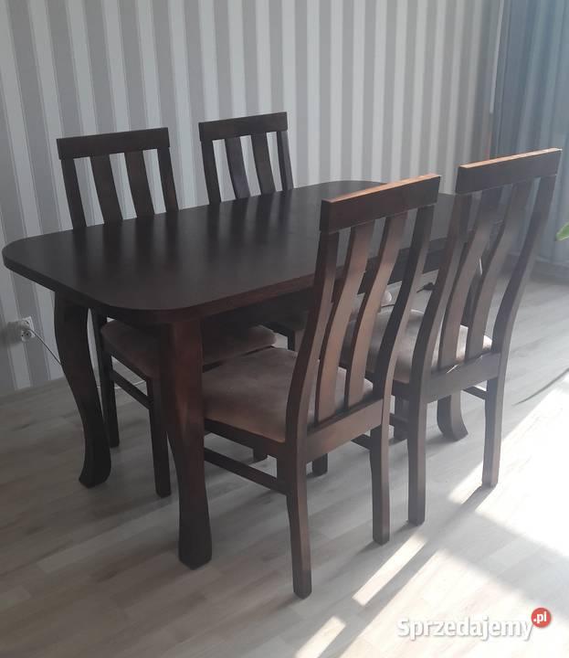 Stół rozkładany i 4 krzesła