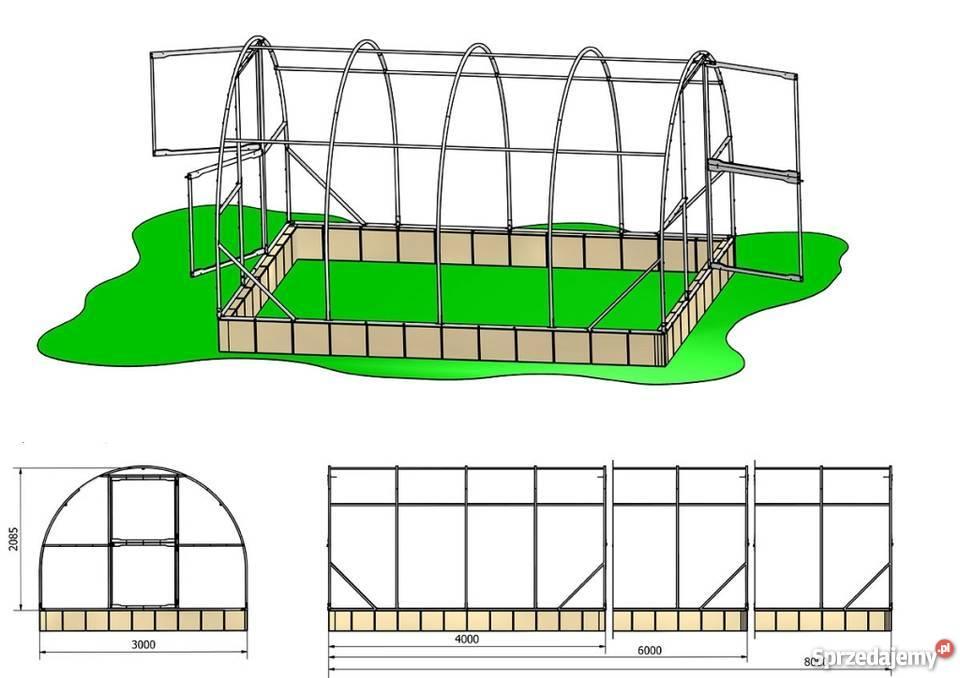 Szklarnia ogrodowa Maja 18m2 3x6 m poliwęglan 6 mazowieckie