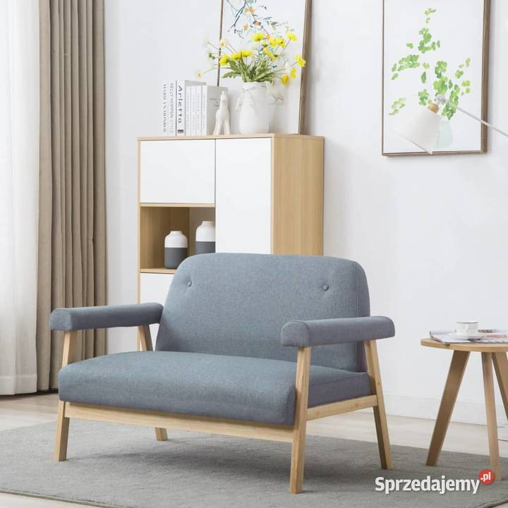 vidaXL Sofa 2-osobowa tapicerowana tkaniną, 246643