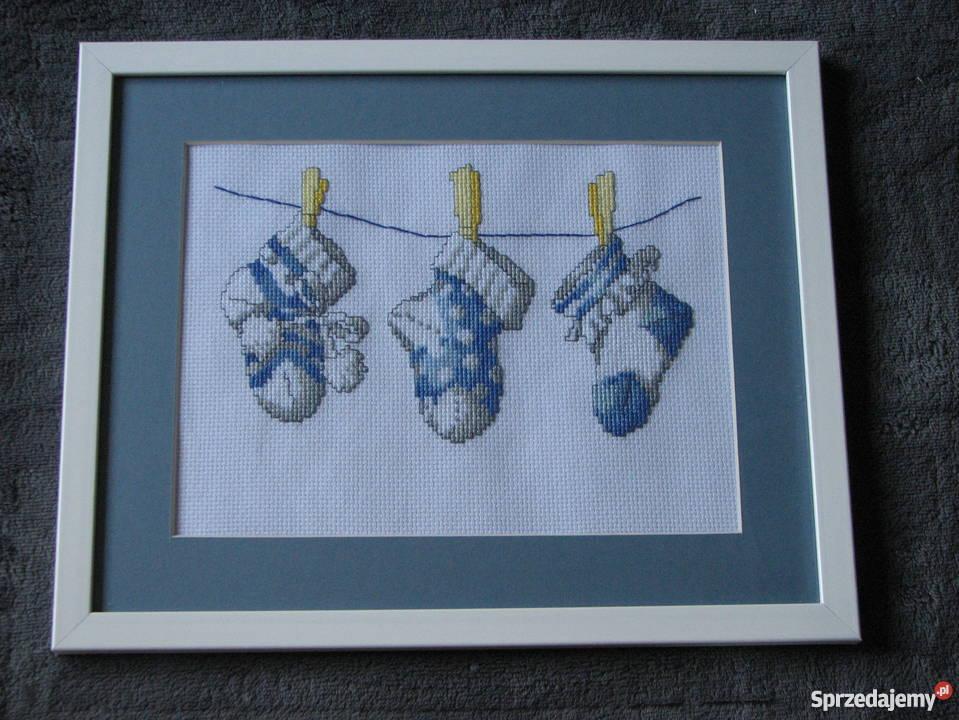 Aniołek haft krzyzykowy Dekoracje i ozdoby śląskie