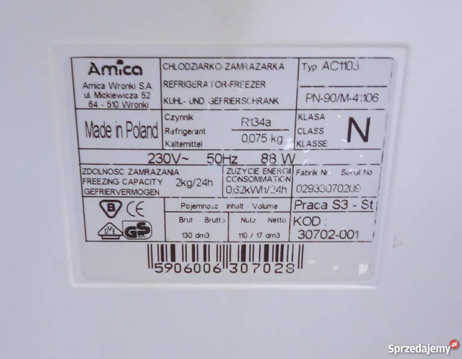 Lodówka Amica AC1103 Lodówki i zamrażarki