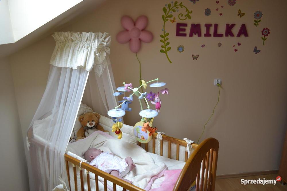 Cudowne łóżeczko dziecięce z całym wyposażeniem Łaziska Górne sprzedam