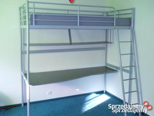 łóżko piętrowe metalowe z biurkiem Ikea zachodniopomorskie Złocieniec