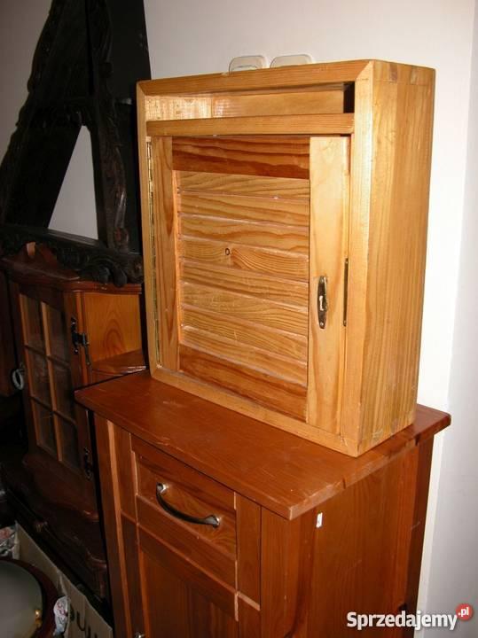 szafka skrzynka na listy z drewna