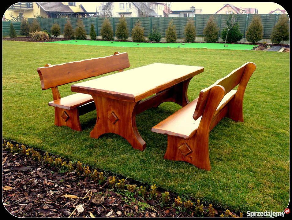 Meble ogrodowe, barowe, drewniane, stół ,ławka,hustawka