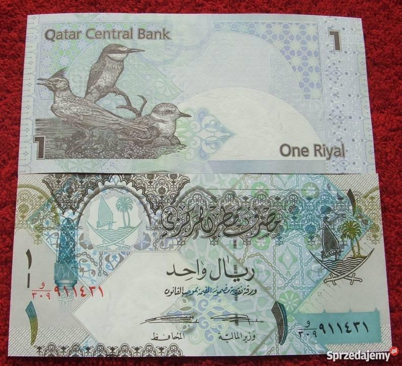 QATAR 1 RIYAL Kolekcjonerski Banknot 1 sztuka
