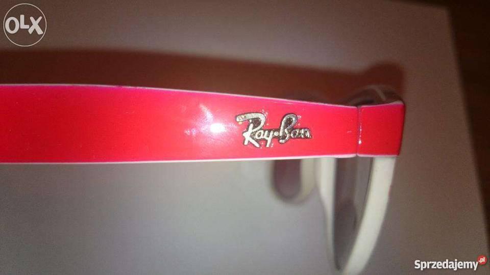 fc51d52ca14eb2 okulary przeciwsłoneczne czerwono białe Ray Ban Okulary Żywiec sprzedam