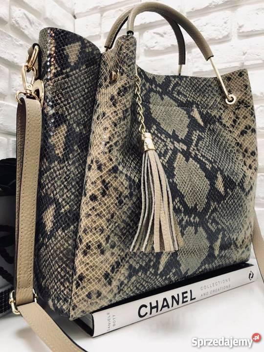59a503a123588 torebki ze skóry włoskie - Sprzedajemy.pl