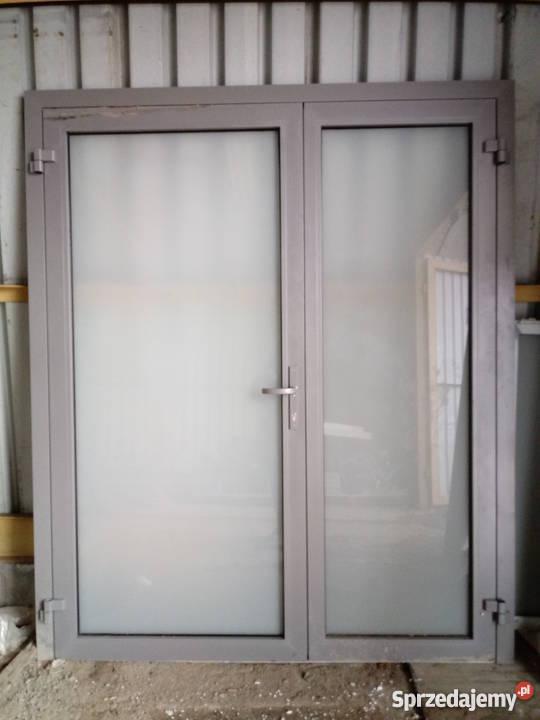 Wspaniały Okazja! Drzwi aluminiowe dwuskrzydłowe wewnętrzne! Brzóza CU44
