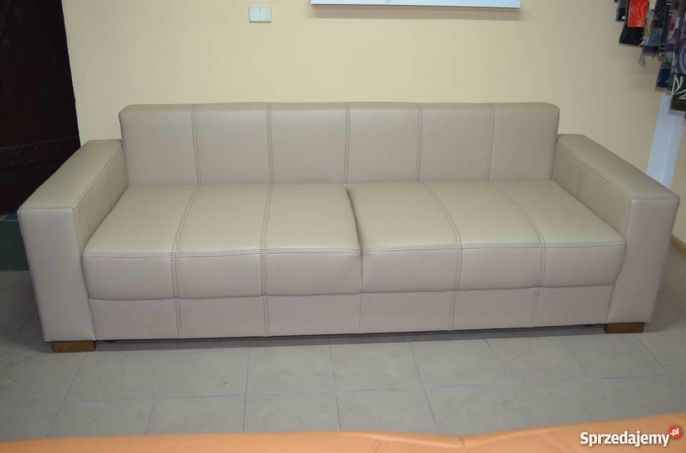 Kanapa sofa rozkładana prawdziwa skóra naturalna kujawsko-pomorskie Gniewkowo