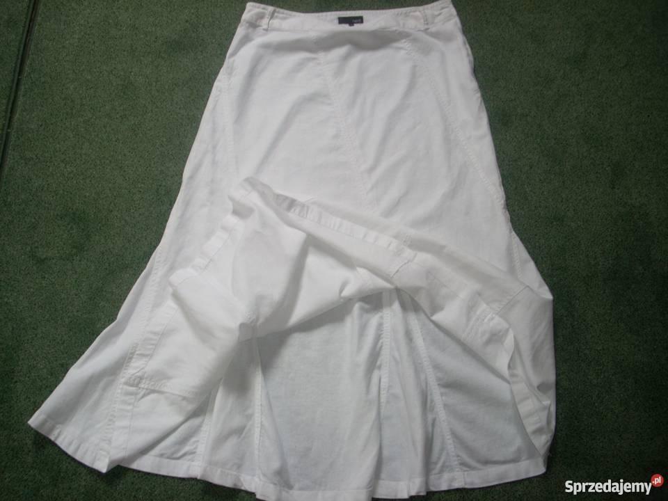 398271ea NEXT lniana spódnica biała LEN j nowa 40 L