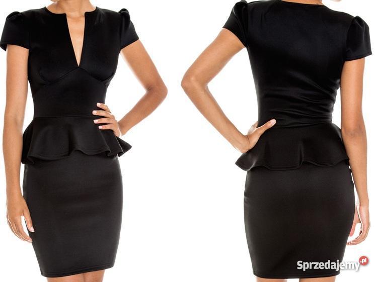 a5a492d2be czarna mini sukienka - baskinka - rozm 36 - Sprzedajemy.pl