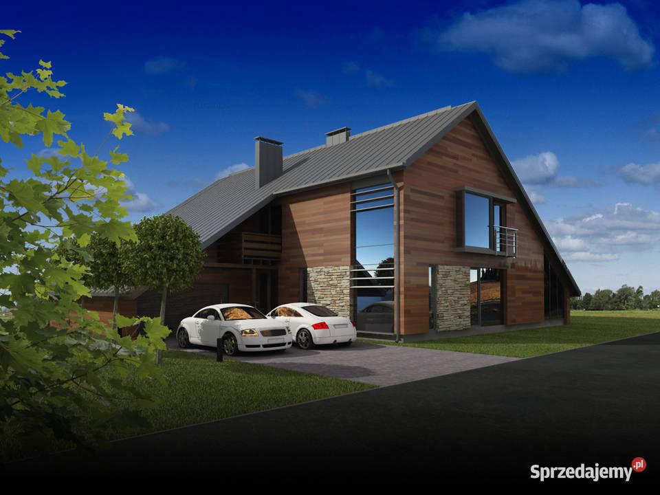 Projekt domu jednorodzinnego nowoczesny dach dwuspadowy eko