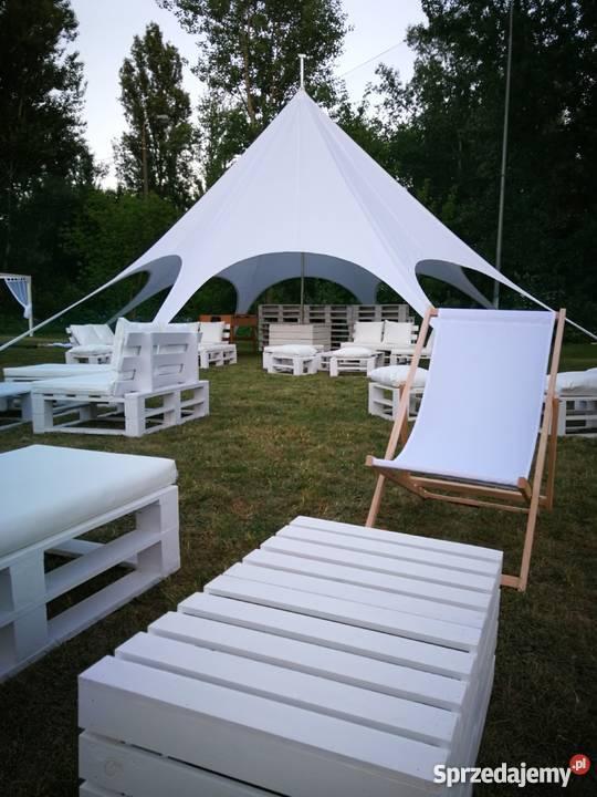WYNAJEM mebli z palet namiotów STAR Warszawa Obsługa imprez