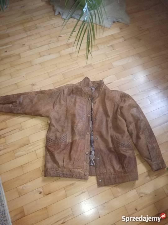 4b9cee82cb671 RAMONESKA 100 SKÓRA NATURALNA kurtka damska brązowy beżowy Odzież damska  Spytkowice