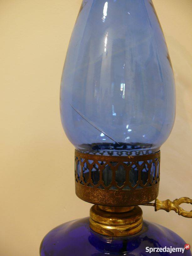 Lampa naftowa stylizowana kobaltowa Warszawa