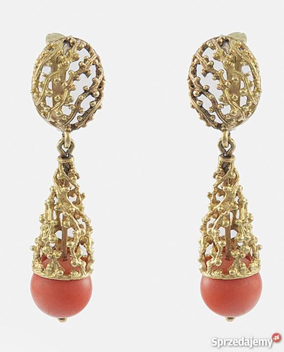 6bd6aee07af1e4 złote kolczyki z koralem cena - Sprzedajemy.pl