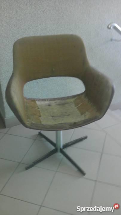 Fotel Muszelka Obrotowy Do Renowacji Prl