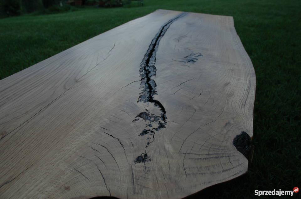 Stół Industrialny Dębowy Stare drewno Loft Blat Stolik