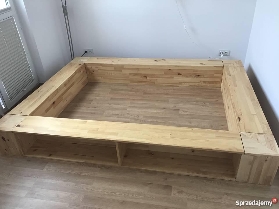 Rama łóżko Drewniane Sosnowe 140x200