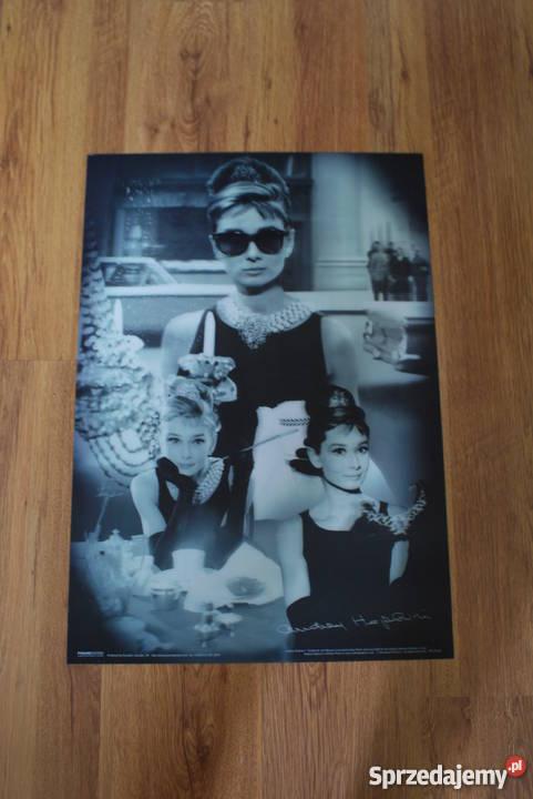 Audrey Hepburn Plakat Filmowy Trójwymiarowy 3d Duży
