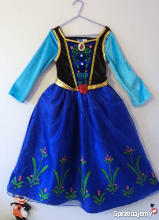 2c2d2d67de Sukienka Anna Elsa Frozen Kraina Lodu kostium biały Pozostałe Bydgoszcz  sprzedam