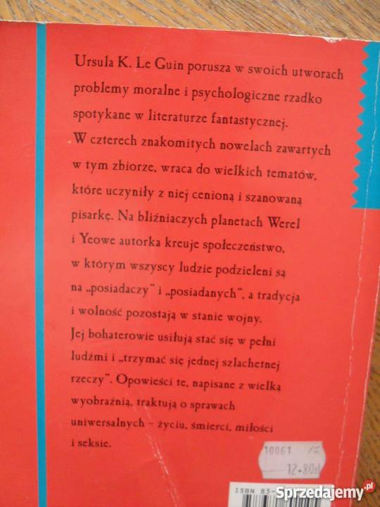 Cztery drogi ku przebaczeniu Ursula K Le Guin Warszawa