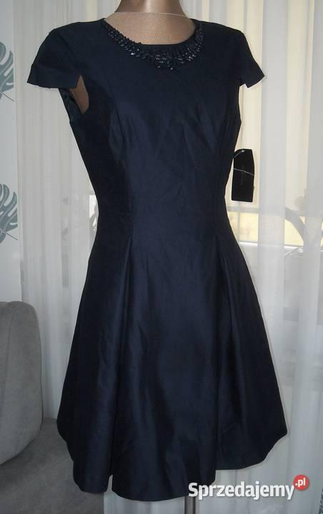 sukienka tiulowa zara granatowa rozmiar l