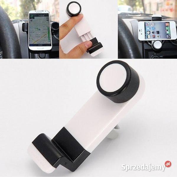 uchwyt na kratkę wentylacyjną obracany 360 ° na telefon auto