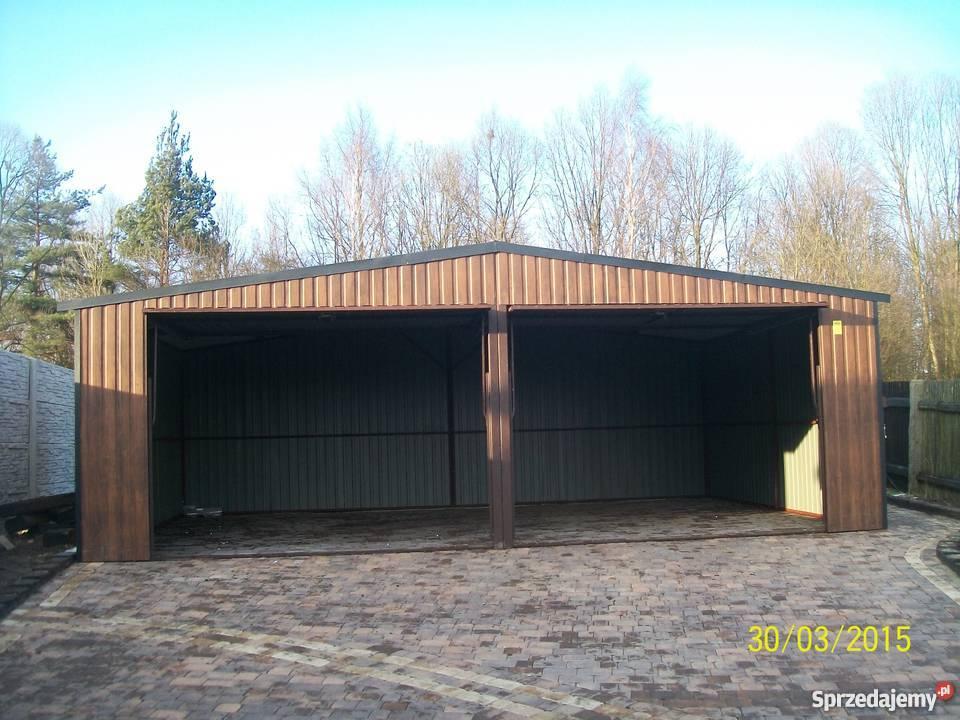 garaż blaszany bramy garażowe wiaty hale garaz Limanowa