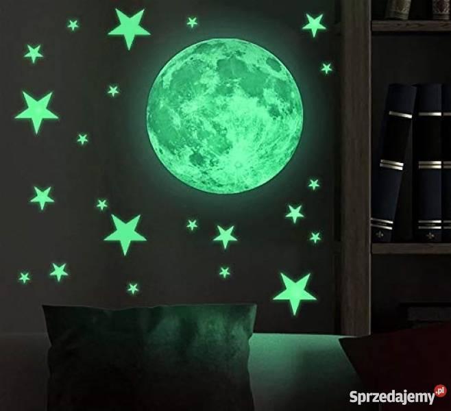 Nocne niebo fluorescencyjne | Księżyc + 50 Gwiazd