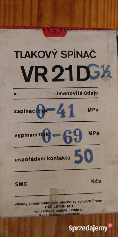 Sprzedam Łącznik ciśnieniowy VR21D