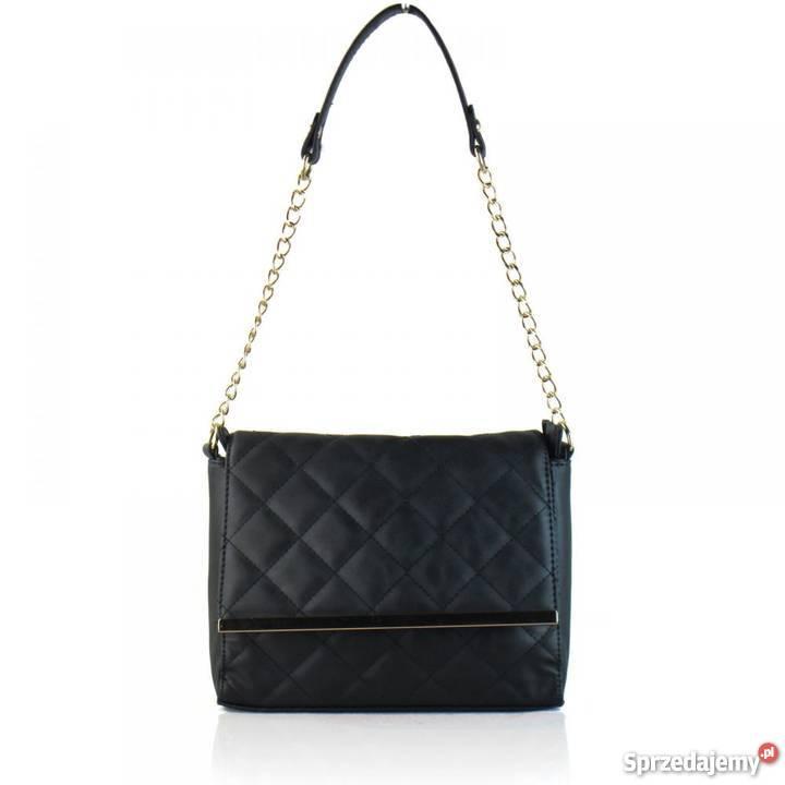 fcc307e377f3c czarna pikowana torebka - Sprzedajemy.pl