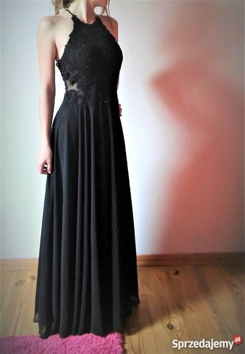 d04c5d31ac Przepiękna czarna suknia wieczorowa Rozmiar 34(XS) Moda i Styl  świętokrzyskie Kielce