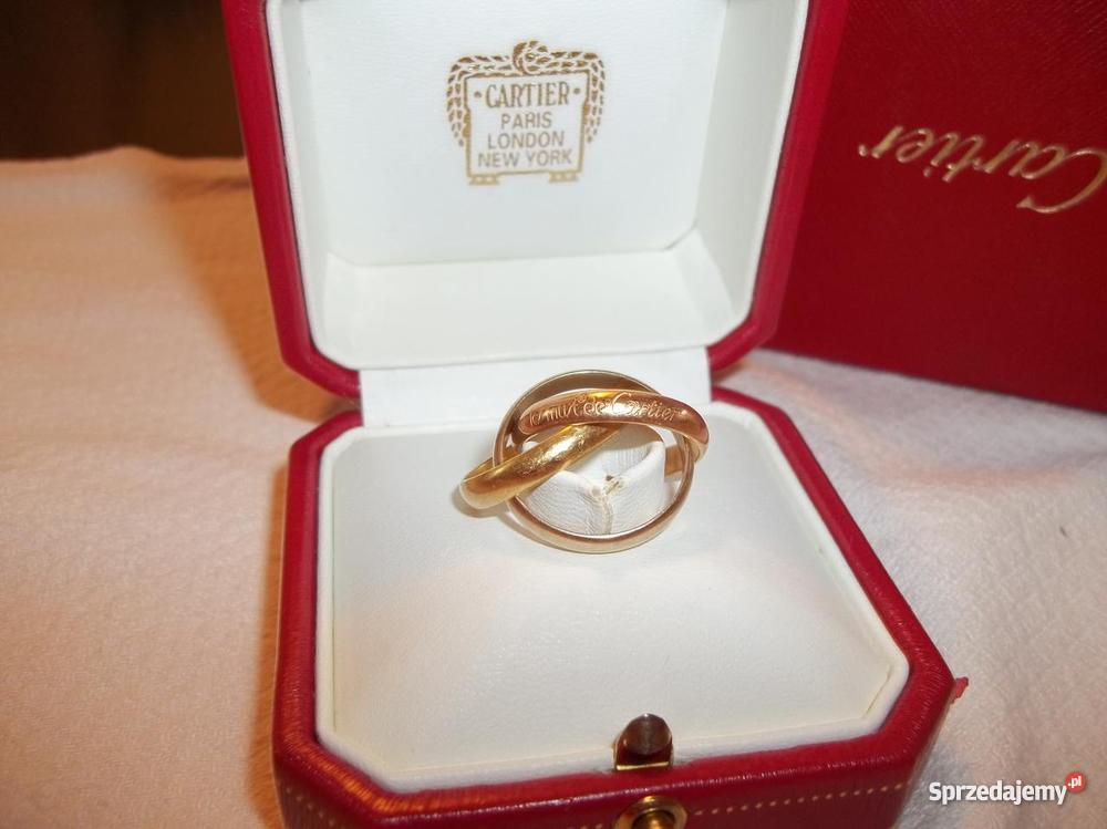 Tylko na zewnątrz Pierścionek Cartier Trinity 18K - Sprzedajemy.pl NR08