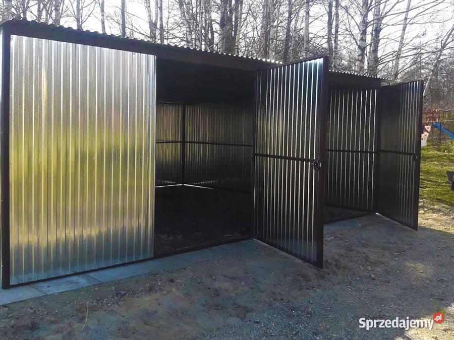 Garaż blaszany 6x6 ocynkowany garaże blaszaki producent