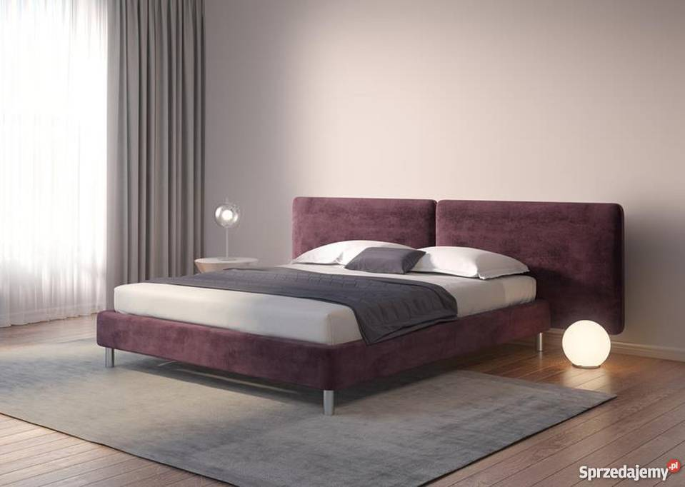 łóżko Tapicerowane Z Zagłówkiem 160200