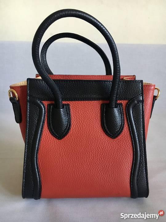 645ffa9584cf9 Czerwono czarna włoska torebka skórzana Grajewo - Sprzedajemy.pl